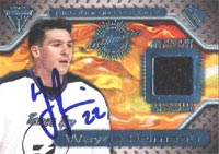 Wayne Primeau Tampa Bay Lightning 2001 Pacific Titanium Game-Worn Jersey Autographed Card. This item comes with a certificate of authenticity from Autograph-Sports. PSM-Powers Sports Memorabilia