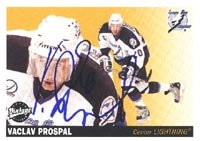 Vaclav Prospal Tampa Bay Lightning 2002 Upper Deck Vintage Autographed Card. This item comes with a certificate of authenticity from Autograph-Sports. PSM-Powers Sports Memorabilia