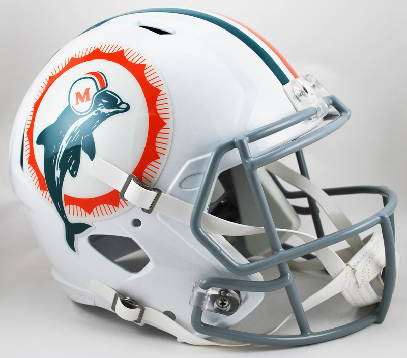 Miami Dolphins Speed Replica Football Helmet B 1966 Anniversary B PSM-Powers Sports Memorabilia