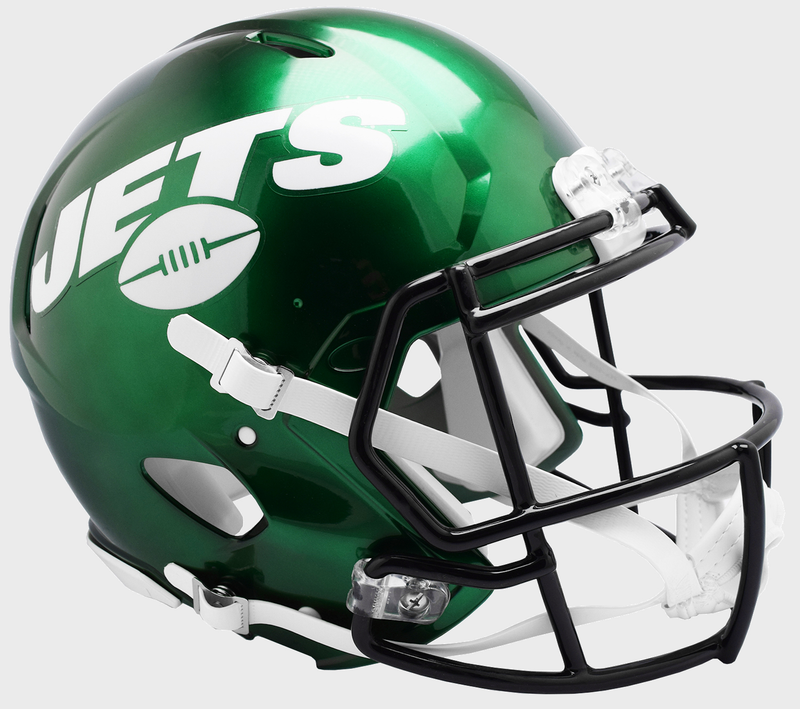 New York Jets Speed Replica Football Helmet B NEW 2019 B PSM-Powers Sports Memorabilia