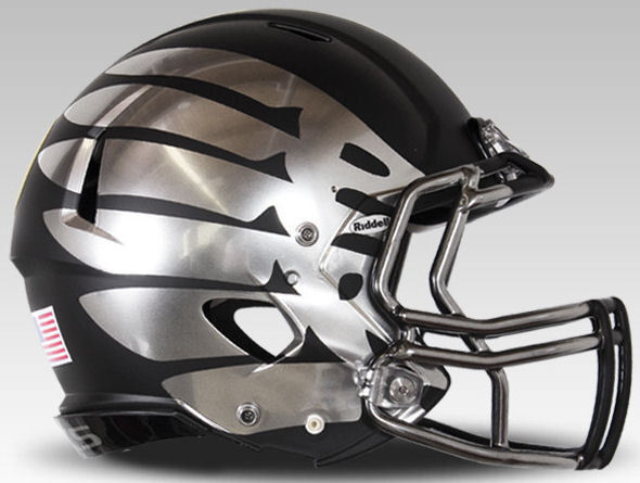 Oregon Ducks Speed Football Helmet B Black Eclipse Discontinued B PSM-Powers Sports Memorabilia