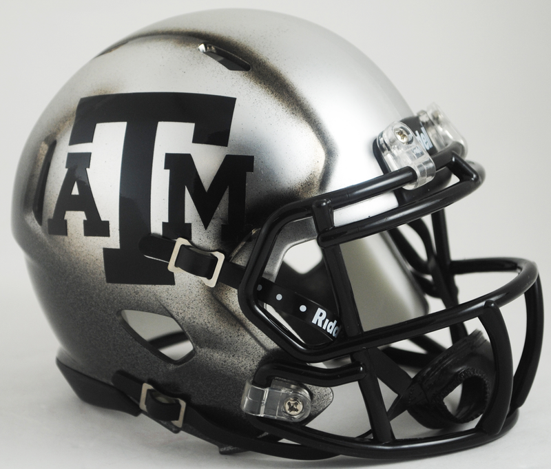 Texas A&M Aggies Speed Football Helmet B Ice Hydro HAND PAINTED B PSM-Powers Sports Memorabilia