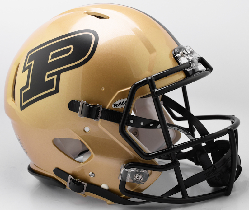 Purdue Boilermakers Speed Football Helmet B 2017 B PSM-Powers Sports Memorabilia