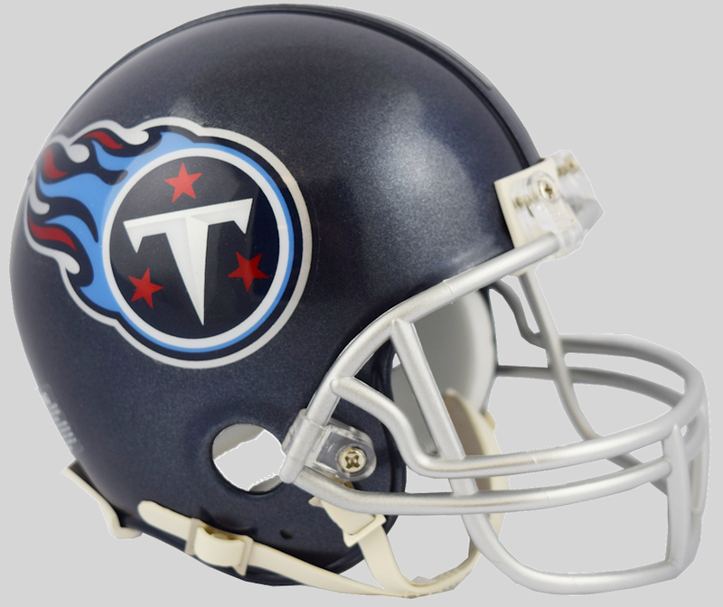 Tennessee Titans NFL Mini Football Helmet B 2018 Satin Navy Metallic B PSM-Powers Sports Memorabilia