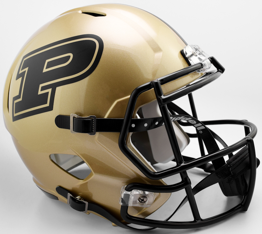 Purdue Boilermakers Speed Replica Football Helmet B 2017 B PSM-Powers Sports Memorabilia