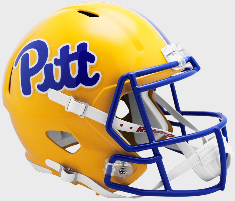 Pittsburgh Panthers Speed Replica Football Helmet B Gold NEW 2019 B PSM-Powers Sports Memorabilia