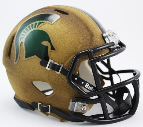 Michigan State Spartans NCAA Mini Speed Football Helmet B 2011 Special Textured B PSM-Powers Sports Memorabilia