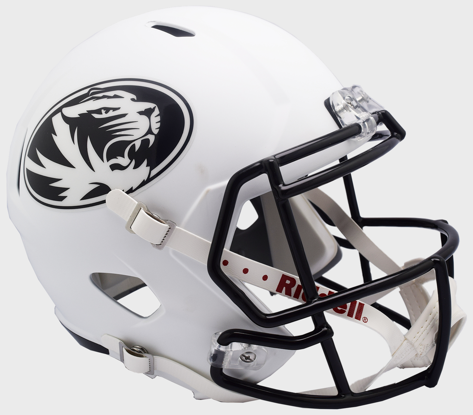 Missouri Tigers Speed Replica Football Helmet B 2018 Matte White B PSM-Powers Sports Memorabilia