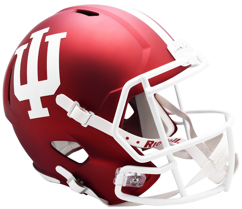 Indiana Hoosiers Speed Replica Football Helmet B Anodized Crimson B PSM-Powers Sports Memorabilia