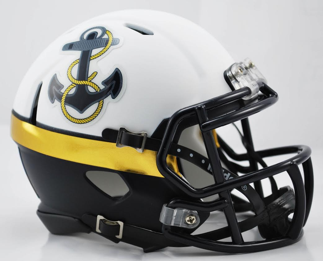 Navy Midshipmen NCAA Mini Speed Football Helmet B 2012 Special B PSM-Powers Sports Memorabilia