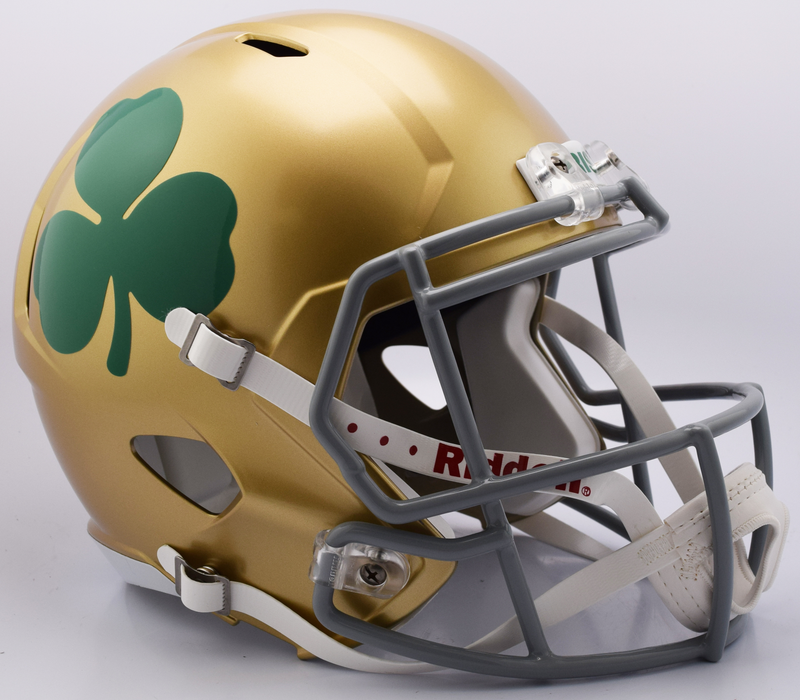 Notre Dame Fighting Irish Speed Replica Football Helmet B Shamrock B PSM-Powers Sports Memorabilia