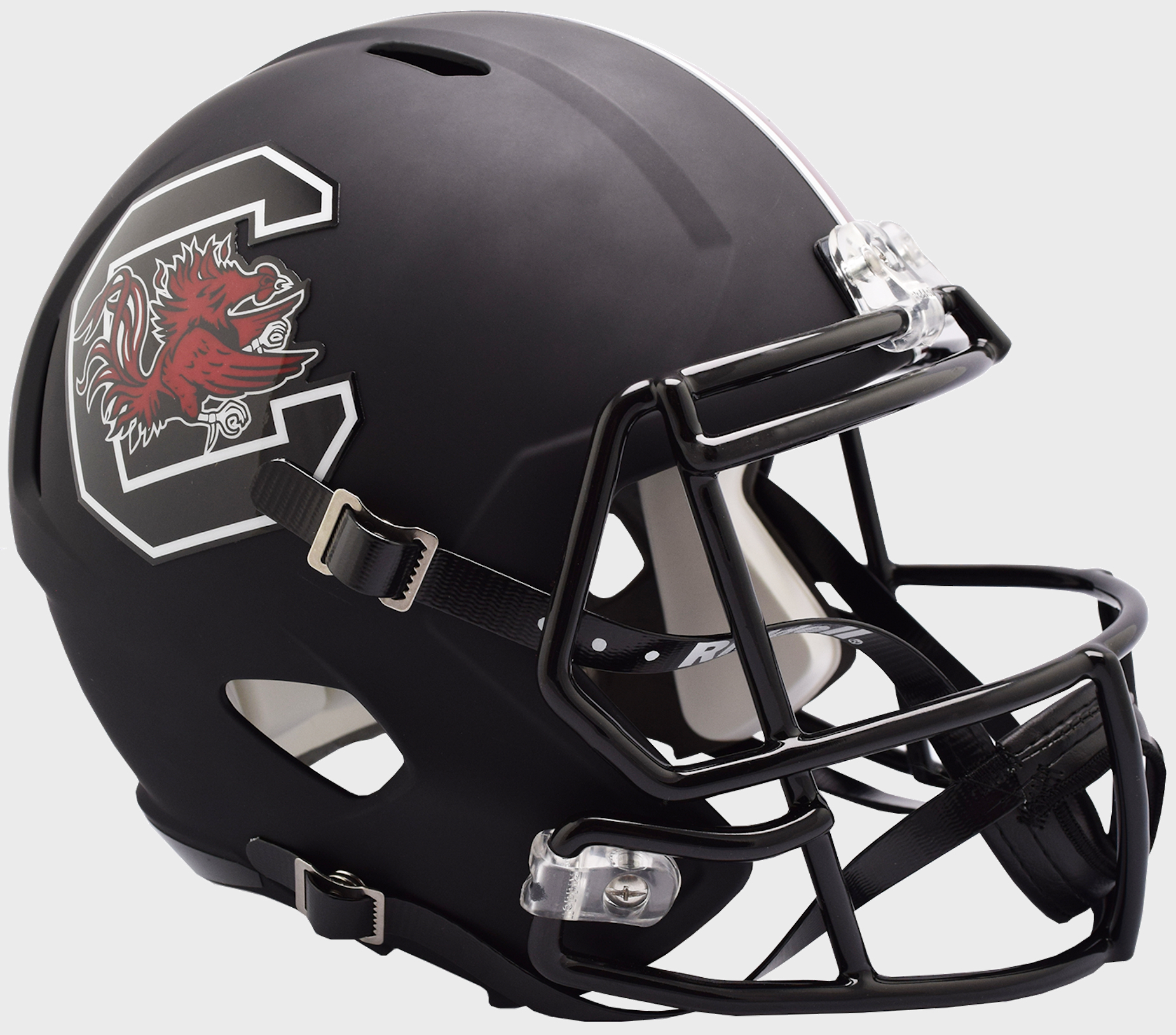 South Carolina Gamecocks Speed Replica Football Helmet B Matte Black B PSM-Powers Sports Memorabilia