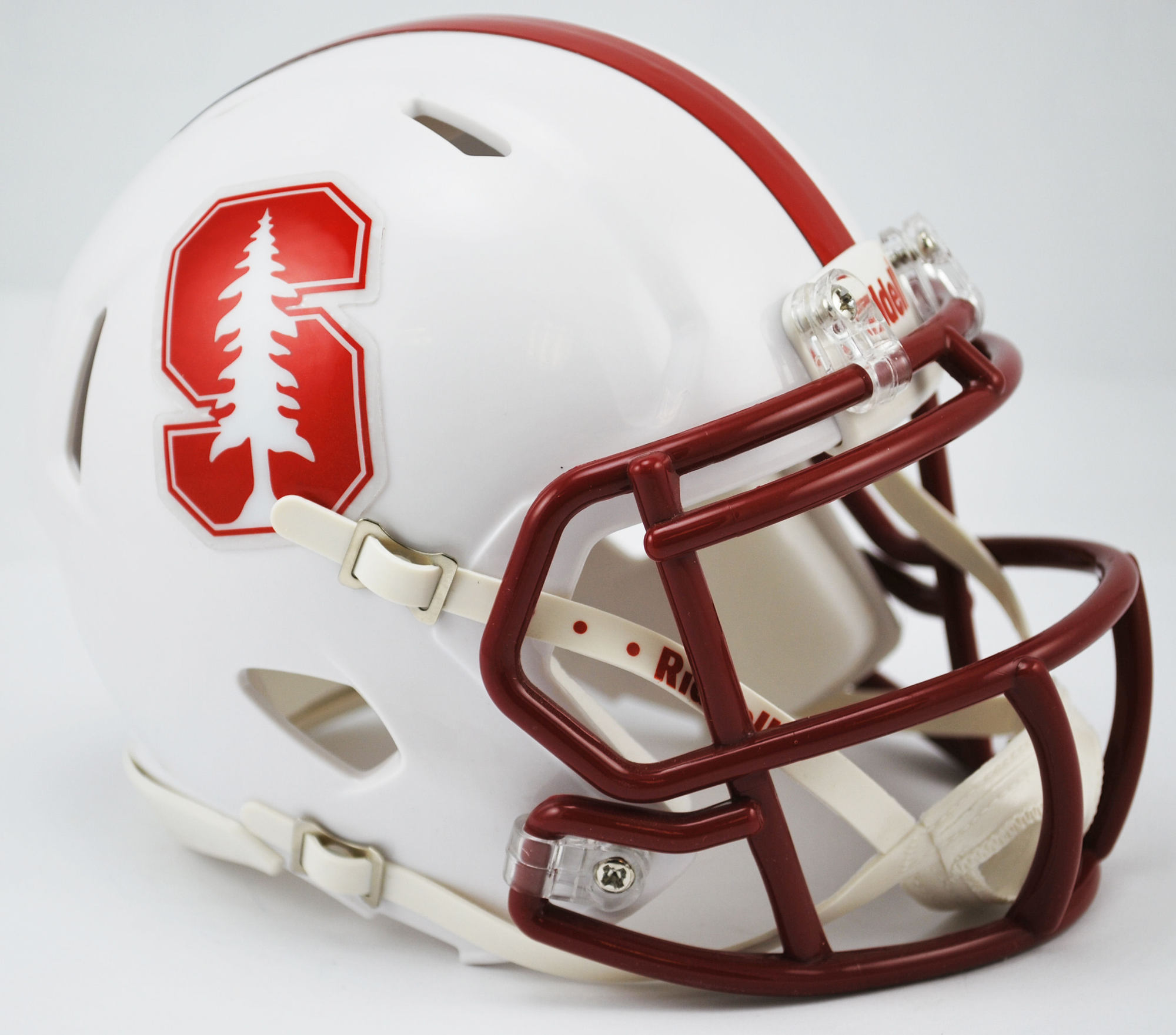 Stanford Cardinal NCAA Mini Speed Football Helmet B Chrome Decal NEW 2015 B PSM-Powers Sports Memorabilia