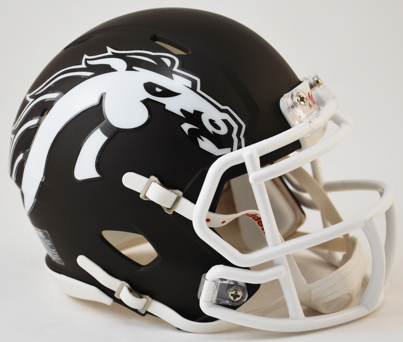 Western Michigan Broncos NCAA Mini Speed Football Helmet B Matte Brown B PSM-Powers Sports Memorabilia