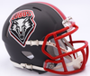 New Mexico Lobos NCAA Mini Speed Football Helmet B NEW 2017 Matte Gray B PSM-Powers Sports Memorabilia