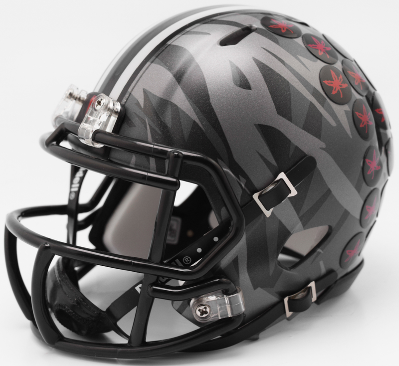 Ohio State Buckeyes NCAA Mini Speed Football Helmet B 2017 Alt Camo B PSM-Powers Sports Memorabilia