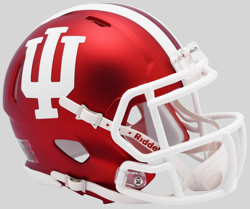 Indiana Hoosiers NCAA Mini Speed Football Helmet B Anodized Crimson B PSM-Powers Sports Memorabilia