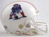 New England Patriots 1982 to 1989 Riddell Mini Replica Throwback Helmet PSM-Powers Sports Memorabilia