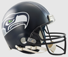 Seattle Seahawks Football Helmet B Matte Navy B PSM-Powers Sports Memorabilia