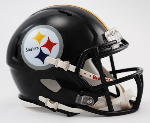 Pittsburgh Steelers NFL Mini Speed Football Helmet PSM-Powers Sports Memorabilia