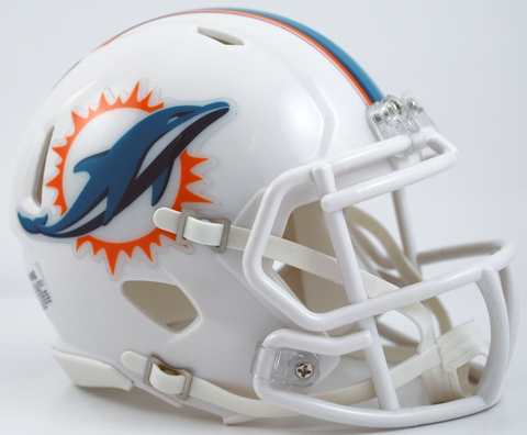 Miami Dolphins NFL Mini Speed Football Helmet PSM-Powers Sports Memorabilia