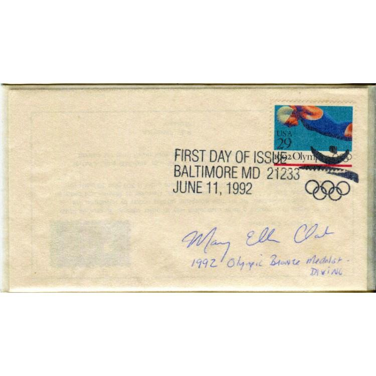 Mary Ellen Clark Autographed First Day Cover PSM-Powers Sports Memorabilia