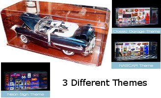Nascar unsigned 1:24 Display Case with Mirror-like Base- Case of 3 PSM-Powers Sports Memorabilia