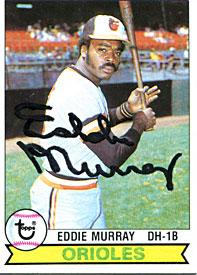 Eddie Murray Autographed / Signed 1979 Topps Card PSM-Powers Sports Memorabilia