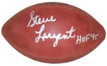 Steve Largent signed Official NFL Rozelle Leather Gameday Football HOF 95 Inscribed (Seattle Seahawks)- JSA Hologram #EE41625 PSM-Powers Sports Memorabilia