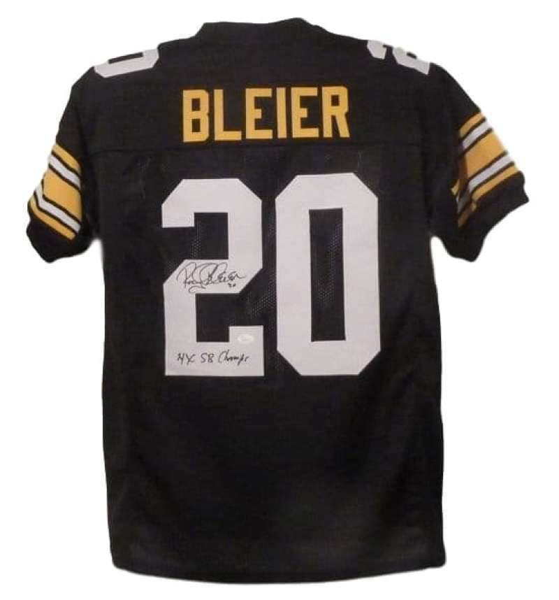 Rocky Bleier Autographed Pittsburgh Steelers Custom XL Black Jersey 4x SB Champs JSA PSM-Powers Sports Memorabilia
