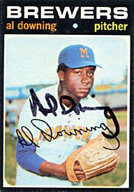 Al Downing Autographed / Signed 1971 No.182 Milwaukee Brewers Baseball Card PSM-Powers Sports Memorabilia