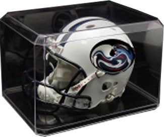Football Mini Helmet Clear Display Case Holder PSM-Powers Sports Memorabilia