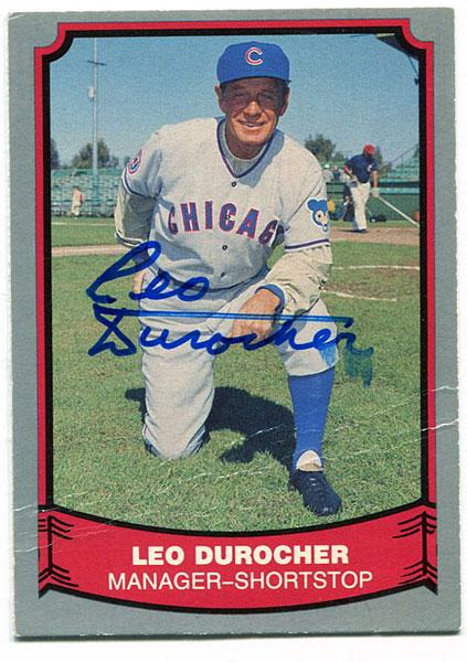 Leo Durocher Autographed / Signed 1988 Pacific Card PSM-Powers Sports Memorabilia