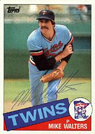 Mike Walters Autographed / Signed 1985 Topps #187 Card - Minnesota Twins PSM-Powers Sports Memorabilia