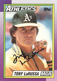 Tony LaRussa Autographed / Signed 1990 Topps Card #639 - Oakland Athletics PSM-Powers Sports Memorabilia