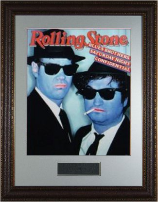 Blues Brothers unsigned Rolling Stone Cover 16x20 Photo Custom Premium Leather Framed w/Dan Aykroyd & John Belushi (entertainmen PSM-Powers Sports Memorabilia