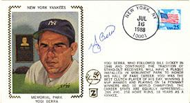 Yogi Berra Autographed / Signed New York Yankees Memorial Park Cache PSM-Powers Sports Memorabilia