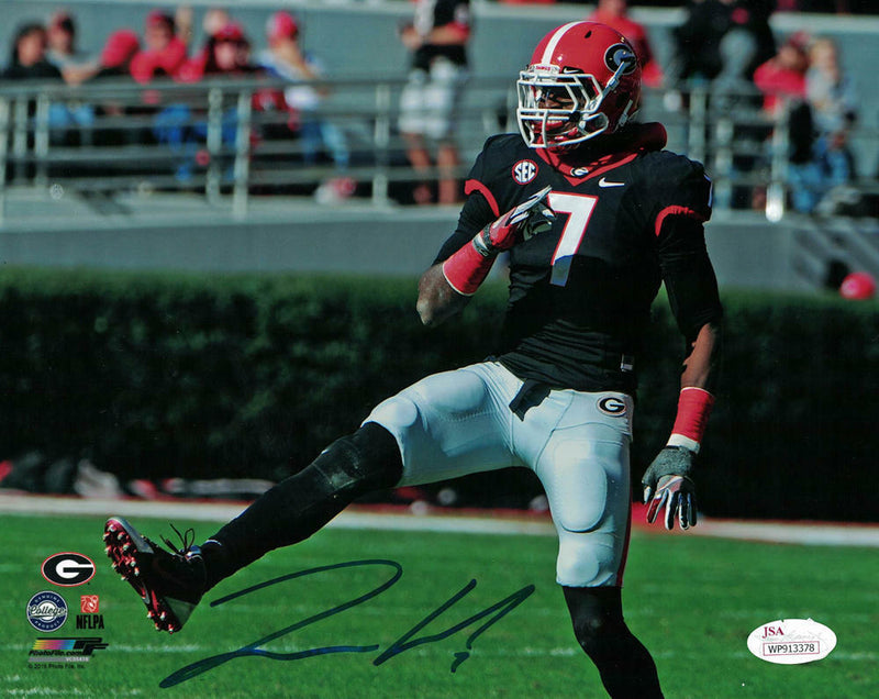 Lorenzo Carter Autographed Georgia Bulldogs 8x10 Photo JSA PSM-Powers Sports Memorabilia