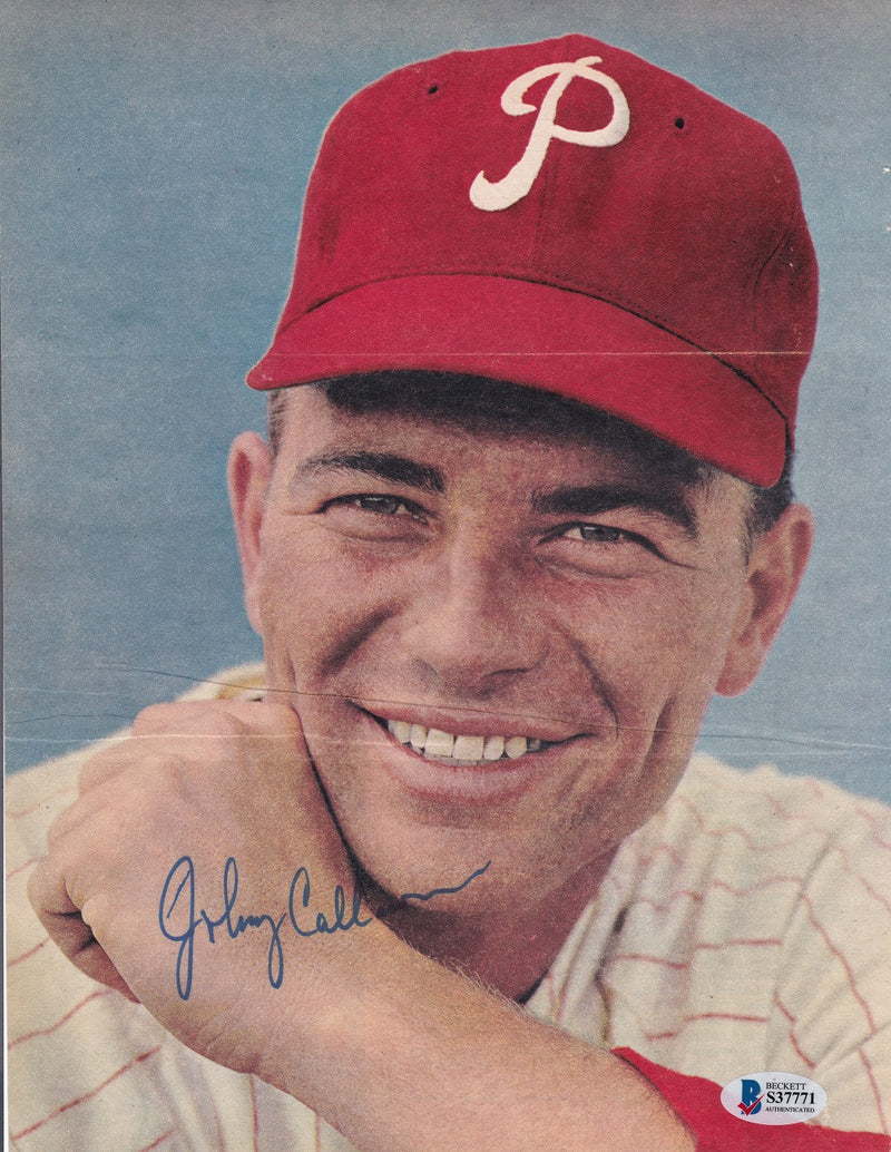 Johnny Callison Philadelphia Phillies Signed Magazine Page BAS PSM-Powers Sports Memorabilia