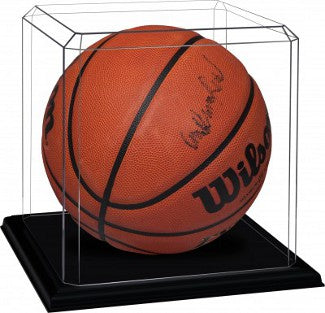 Basketball unsigned Display Case with Black Base PSM-Powers Sports Memorabilia