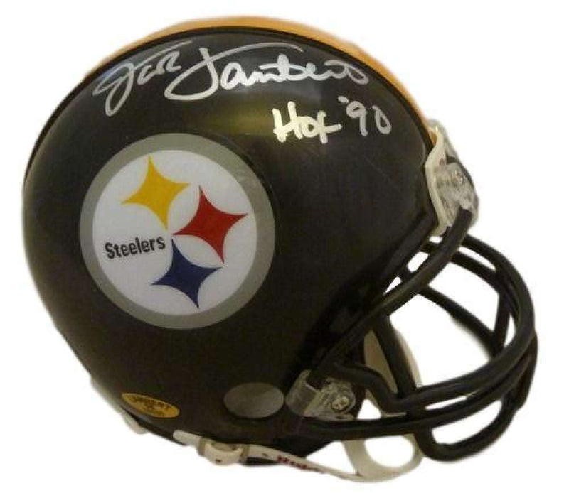 Jack Lambert Autographed Pittsburgh Steelers Mini Helmet PSM-Powers Sports Memorabilia