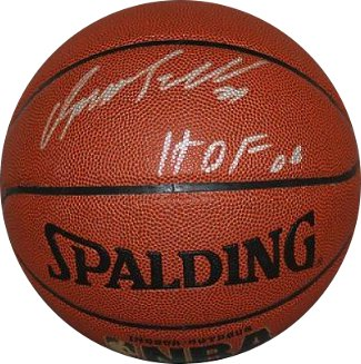 Dominique Wilkins signed Spalding NBA Indoor/Outdoor TB Basketball HOF 06 Insc (Atlanta Hawks) PSM-Powers Sports Memorabilia