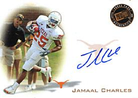 Jamaal Charles Autographed / Signed 2008 PressPass Texas Longhorns College Football Card PSM-Powers Sports Memorabilia