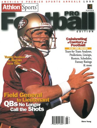 Steve Young unsigned San Francisco 49ers Athlon Sports 1999 NFL Pro Football Preview Magazine PSM-Powers Sports Memorabilia