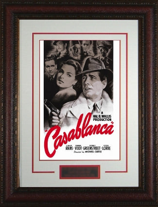 Casablanca unsigned Vintage Movie Poster Premium Leather Framed 20x28 (entertainment/photo) PSM-Powers Sports Memorabilia