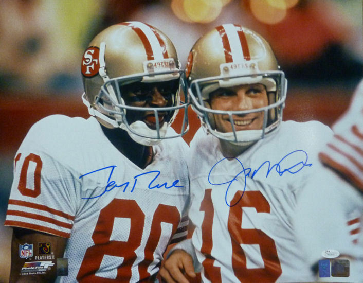 Joe Montana & Jerry Rice Autographed San Francisco 49ers 16x20 photo JSA PSM-Powers Sports Memorabilia