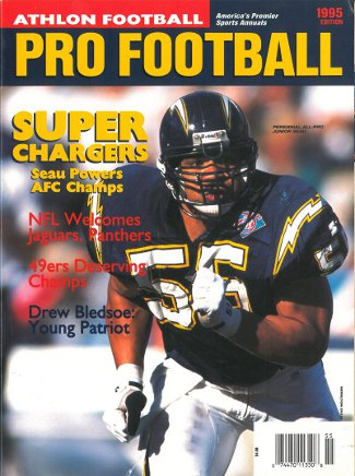 Junior Seau unsigned San Diego Chargers Athlon Sports 1995 NFL Pro Football Preview Magazine PSM-Powers Sports Memorabilia