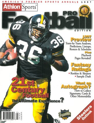 Jerome Bettis unsigned Pittsburgh Steelers Athlon Sports 1997 NFL Pro Football Preview Magazine PSM-Powers Sports Memorabilia
