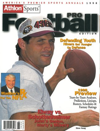 Steve Young unsigned San Francisco 49ers Athlon Sports 1998 NFL Pro Football Preview Magazine PSM-Powers Sports Memorabilia