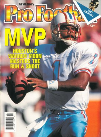 Warren Moon unsigned Houston Oilers Athlon Sports 1991 NFL Pro Football Preview Magazine PSM-Powers Sports Memorabilia